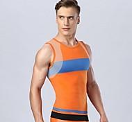 mâle matière de fonction Fitness Sports gilet élastique supérieure shapewear gilet moulant (sans pantalon)