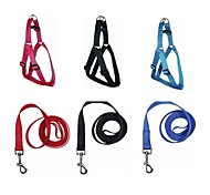 Nylon Webbing Adjustable Dog Harness With Leash