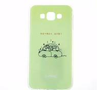 Compact Car Pattern TPU Painted Soft Case for Samsung Galaxy E7