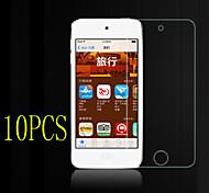 10pcs alta transparencia de cristal LCD protector de pantalla transparente con paño de limpieza para el iPod touch 4