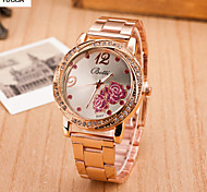 Lady'S Quartz Alloy, Switzerland Watch Butterfly Steel Band Watch Fashion