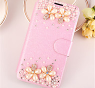 Crystal Surface Diamond  Look PU Leather Full Body Case Case with Kickstand For iPhone 5