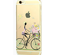 New Fashion 3D Beauty Flower Colorful Totem Cartoon Case for iphone 6S 5.5 Plus
