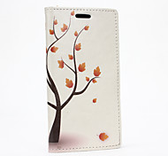 For HTC Case Card Holder / Wallet / with Stand / Flip Case Full Body Case Tree Hard PU Leather HTC