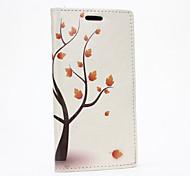 Для Кейс для HTC Бумажник для карт / Кошелек / со стендом / Флип Кейс для Чехол Кейс для дерево Твердый Искусственная кожа HTC
