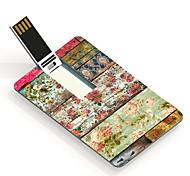 64gb usb tarjeta de diseño de memoria USB flores retro