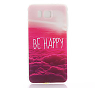 Red Cloud Pattern  Printing TPU Material Phone Case for Samsung Galaxy Alpha G850