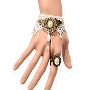 Vintage Half Drip Pearl Bracelet With Ring