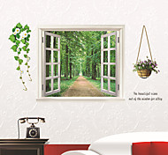 Natural Window Scenery PVC Wall Sticker Wall Decals