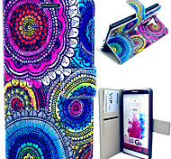 Colorful Circles Pattern with Card Bag Full Body Case for LG G3