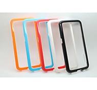 zweifarbige transparente TPU Bumper für Samsung-Galaxie s6 (verschiedene Farben)