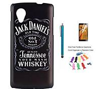Jack Daniels шаблон шт жесткий футляр для LG Nexus 5 / e980 протектор экрана и стилуса рыбий скелет и