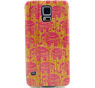 patrón de elefante rosa TPU caso suave para i9600 Samsung Galaxy S5