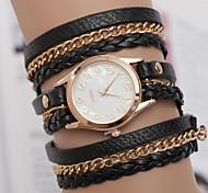 New Fashion Retro Vintage Women Gold Dial Dress Watches Leather Strap Quartz Wrist Watches