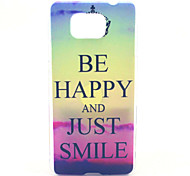 Be Happy And Just Smile Pattern PC Hard Case for Samsung Galaxy Alpha G850 G850F G8508S G8509V Back Cover