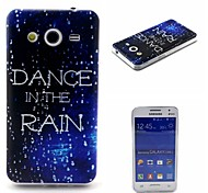 COCO FUN® Walking In The Rain Pattern Soft TPU IMD Back Case Cover for Samsung Galaxy Core 2 G355H