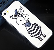 The size of the eye cartoon zebra Pattern Design Pattern Protective Hard Case for iPhone 5/5S