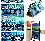 Ancient Figure Pattern with Card Bag Full Body Case for Samsung Galaxy S5 I9600