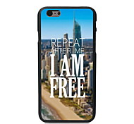 I am Free Design Hard Case for iPhone 6 Plus