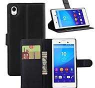 litchi alrededor paréntesis abierto cartera de tarjeta de teléfono de cuero adecuado para aqua sony xperia m4 (color clasificado)