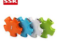 SSK® USB 2.0 SHU024 -1 4-Port High-speed USB HUB