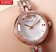 KIMIO®Brand Crystal Band Women Dress Watches Fashion Rose Gold Quartz Watch Shock Watre-Resistant Wristwatch