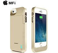 CRDC ® MFI 3000mAh IPhone5s Battery Case External Removable Backup Power Charger Case for iPhone5/5s(Black/WhiteGolden)
