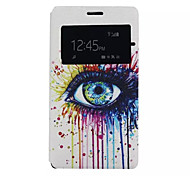 Color Tears Pattern PU Leather Phone Case For Sony C4