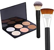 Pro Party 6 Colors Face Bronzing Powder Makeup Palette + 2Powder Brush