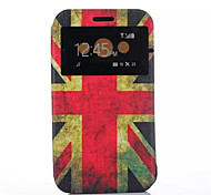 Union Jack Pattern PU Leather Purse Stand Function Holster Case For Galaxy Xcover 3 G388F