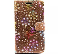Diamond Rose Patterns Wallet Card PU Leather Full Body Case for Samsung Galaxy Grand Prime G530 (Assorted Color)