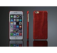 Original Cow Leather Back Case with Card Holder for Apple Iphone 6 Plus (Assorted Color)