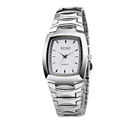 Silver Stainless Steel Band Square Dial Women Ladies Dress Watch Simple Style Elegant Quartz Watches Fashion Item