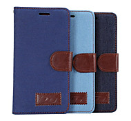 Luxury Denim PU Leather  Card Holder Wallet Flip Phone Holster Huawei P8(Assorted Color)