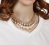 HUALUO®Korean Version of the Diamond Size Pearl Necklace