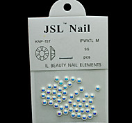 Pearl4mm 50pcs/lot AB Color Half Round Pearls 4mm Imported Pearls Nail Decorations Wheel Rhinestone Nail Art