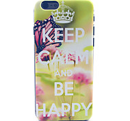 Butterfly Crown  Pattern PC Hard Case for iPhone 6