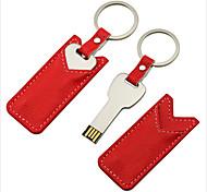 16GB Mini Metal Key Gift USB Flash Drive with Leather Case