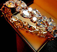 Europe Style Women's Fashion Crystal Rhinestone Hand Chain Ring Bracelet
