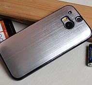 metallo spazzolato cassa del telefono di placcatura per htc M8 (colori assortiti)