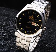 Men's Luxury Business Round Calendar Dial Stainless Steel Strap Fashion Waterproof Quartz Watch Wrist Watch Cool Watch Unique Watch