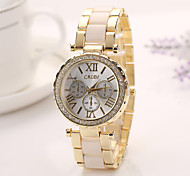 Woman Dress Watches Geneva Brand New Arrival Alloy Band Men's Watch Casual Watches Wristwatches Steel Watch