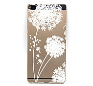 Back Transparent Dandelion TPU Soft Case Cover For Huawei Huawei P8 / Huawei P7