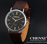 CHENXI® Men's Dress Watch Simple Design Brown Leather Strap Wrist Watch Cool Watch Unique Watch