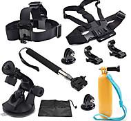 GoPro 8-en-1 kit de accesorios instalada flotante diadema hebilla bhestbandle GoPro héroe 4 + 3/3/2/1