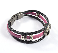 Vintage Unisex's Nut Weave Leather Bracelets 1pc