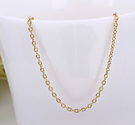forma moda rolo subiu banhado a ouro liga colar de corrente fina (ouro, ouro rosa, ouro branco) (1pc)