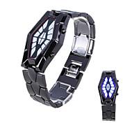 Masculino Relógio de Moda Digital LED Lega Banda Relógio de Pulso Preta / Prata
