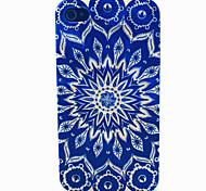 blauen Blumentopf Muster TPU Telefonkasten für iphone 4 / 4s