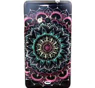 Datura Flowers Pattern Glitter TPU Cell Phone Soft Shell For Nokia Lumia N535 / Microsoft Lumia 535